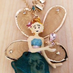 Betsey Johnson fairy necklace
